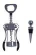 Corkscrew & Wine Bottle Stopper Set
