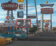 John Baeder, Stardust Motel, 1977. Oil on canvas, 58 x 70 in. (147.32 x 177.8 cm). Yale University Art Gallery, Richard Brown Baker, B.A. 1935, Collection. Courtesy of the artist.