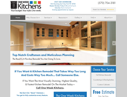 One Week Kitchens, in Forty Fort, has a new website for the New Year!