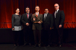 Industry leaders accept the NOVA Award on behalf of intelligent compaction