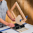 The Router Table Spline Jig is designed for use on small boxes and frames.