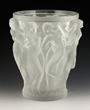 "Mid 20th century Lalique ""Bacchantes"" vase, #12200, French, cast colorless glass, marked ""Lalique France"""