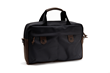 The Bolt Briefcase—black ballistic nylon with chocolate leather details