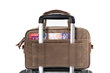 The Bolt Briefcase—Large, rear view over rolling suitcase