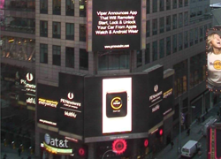 Viper SmartStart Unveiling in Times Square