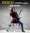 DocuCopies Rocks the Market with Metallic Paper