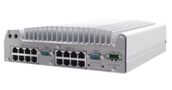 World Most Compact 16x PoE+ Ports Fanless Mobile NVR Computer