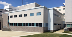 The VA Medical Center addition by Modular Genius, Inc blends seamlessly into the existing building.