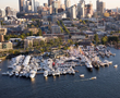The Seattle Boat Show features two locations - indoors at CenturyLink Field Event Center and afloat at South Lake Union. A free shuttle runs continuously between both locations.