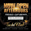 The Gold Club Opens for After-Hours for 2015
