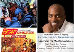 eric dean seaton, legend of the mantamaji graphic novel, book tour