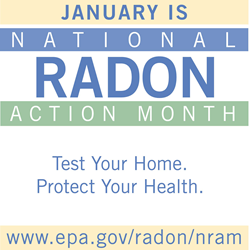 Nation Radon Action Month. Test, Fix, Save.