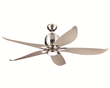 The Lily fan by Monte Carlo has a 12w integrated LED downlight encased in Clear Frost glass with 740 lumens of ourput.