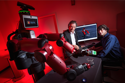 UMD computer scientist Yiannis Aloimonos (center) is developing robotic systems able to visually recognize objects and generate new behavior based on those observations. Photo: John T. Consoli