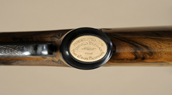 Detail of Ronald Reagan's Winchester Model 64, one of the firearms on display at SHOT Show. 2012.3.1