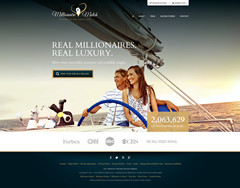 New homepage of millionairematch