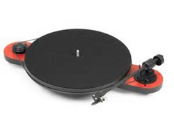 "Pro-Ject Elemental Turntable with 8.6"" Ultra Low Mass Tonearm and Ortofon OM 5E (Red)"