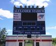 Alexander Stadium's scoreboard BEFORE