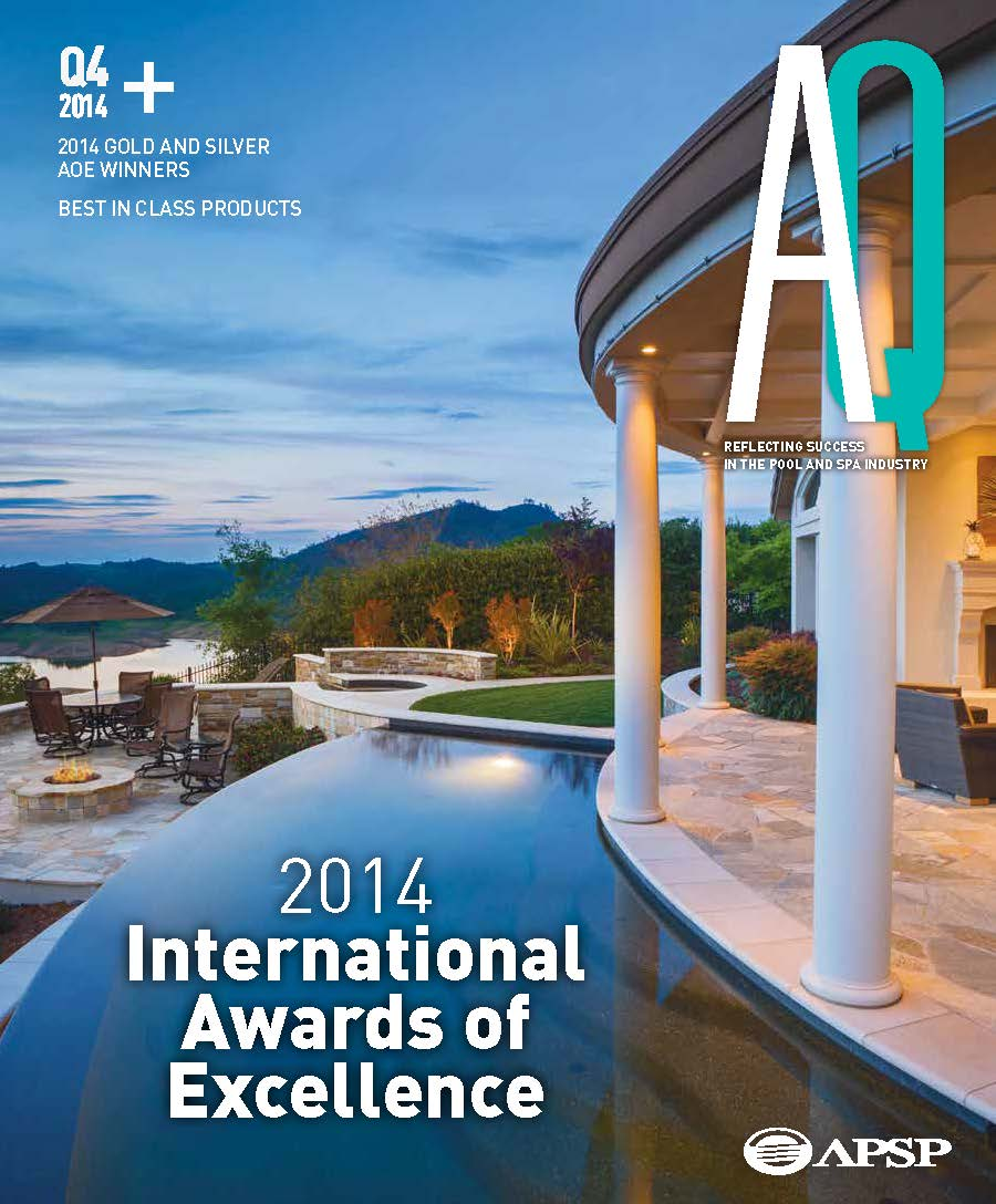 Pool spa magazine wins national design award for Pool design magazine