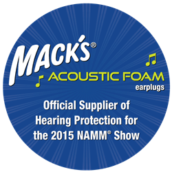 Mack's® Earplugs is the Official Supplier of Hearing Protection for the 2015 NAMM® Show