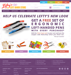 Modern and Colorful New Web Site for Lefty's