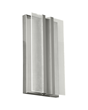 The sophisticated and versatile Vantra wall sconce by LBL Lighting has a sleek aluminum body which also serves as the heat sink for the twin LED light guide panels.