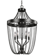 The urban chic Kelvyn Park five-light pendant by Sea Gull Lighting has a classic  Empire style silhouette