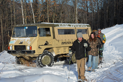 snowshoe hike off-road Pinzauer truck
