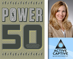 Captive Review Power 50 Article Cover and Dana Hentges Sheridan of Active Captive Management
