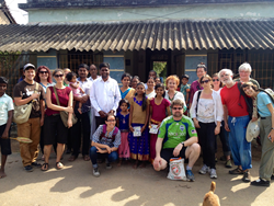 As guests of a local village, VegVoyages travelers learn about local culture off-the-beaten-track in rural Tamil Nadu.