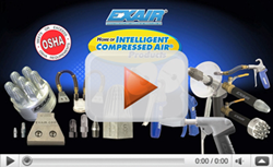 Watch this video about EXAIR's Air Nozzles and Safety Air Guns