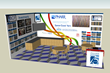 A display of Pharr Yarns' booth at 2015 Domotex in Hanover, Germany. Hall 5, Booth C26
