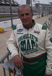 Derrike Cope at Daytona last year driving Charlie's Soap Camaro