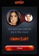 EMBR iPhone App from Spruce Fir and Pine, Inc. is for Couples in the Mood