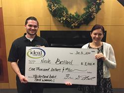 Ideal CU's third $1,000 debit card giveaway winner