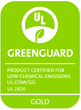 UL GREENGUARD Gold Certification Label