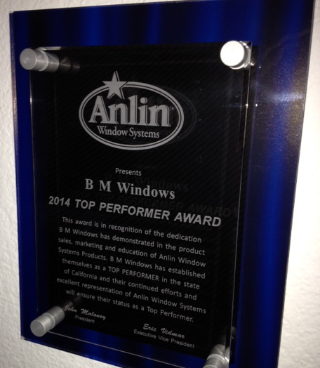 Bm Windows Named Anlin Window Systems Top Performer For