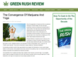 GreenRushReview.com Reports the Convergence of Yoga and Marijuana