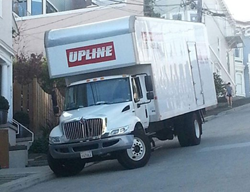 Upline Moving truck parking in San Francisco