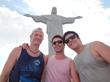 Under the statue of Christ, in Rio de Janeiro, Brazil