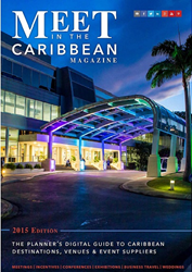 Cover of Meet In The Caribbean Magazine 2015
