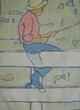 "Eliza Gardiner (1871 – 1955), Boy Fishing | Color woodcut 10"" x 7"""