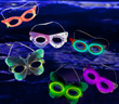 Mardi Gras Glow Masks from Glowsource.com