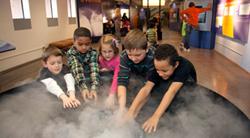 Kids at Mesa Lab Exhibit at NCAR