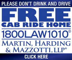 Free Cab Ride Home Program Banner
