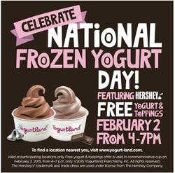 Yogurtland, frozen yogurt, Hersheys, York Peppermint Pattie, custom flavors, chocolate, Hersheys kisses,