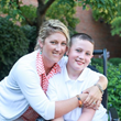 Landon Reese and his mom