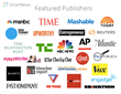 Major publishers featured on SmartNews
