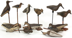 Lot 166 - 11 Tin Folding Shore Bird Decoys