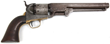 Colt New York Navy Model 1851 Revolver. 7.5 in. octagonal barrel with rifled bore, .36 caliber, 6 shot single action percussion revolver with creep style ramrod, brass trigger guard and butt strap, walnut grips; marked on the top of the barrel in one line